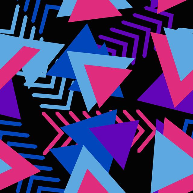 barevný memphis