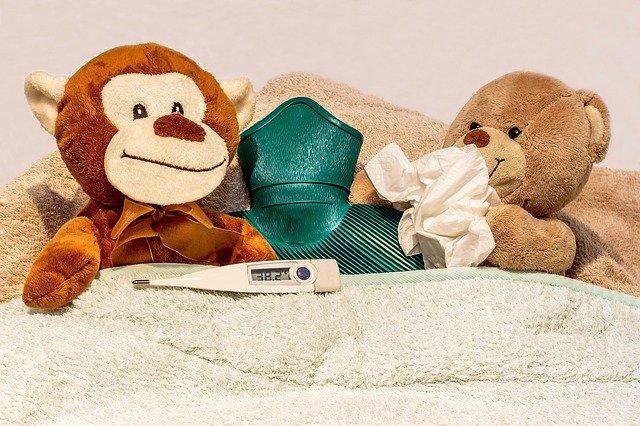 Nemocní plyšový medvídci
